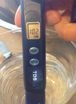 Tap water from my Fort Bragg, NC, home.